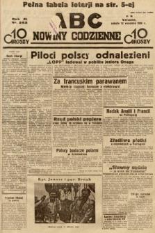 ABC : nowiny codzienne. 1936, nr262