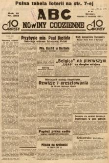 ABC : nowiny codzienne. 1936, nr263