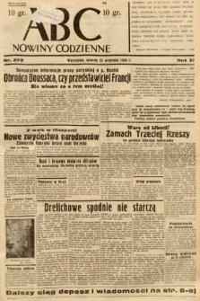 ABC : nowiny codzienne. 1936, nr272