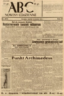 ABC : nowiny codzienne. 1936, nr274