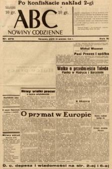 ABC : nowiny codzienne. 1936, nr276 [ocenzurowany]