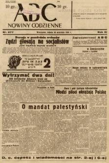 ABC : nowiny codzienne. 1936, nr277