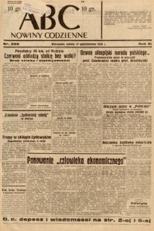 ABC : nowiny codzienne. 1936, nr298
