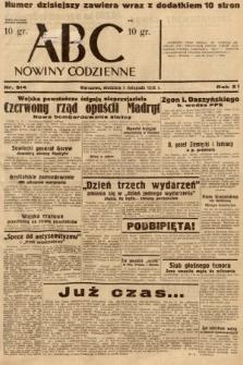 ABC : nowiny codzienne. 1936, nr314