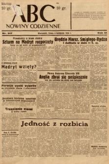 ABC : nowiny codzienne. 1936, nr317
