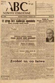 ABC : nowiny codzienne. 1936, nr318