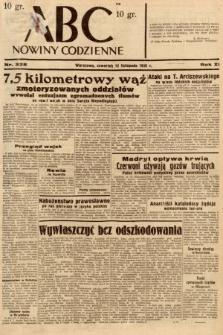 ABC : nowiny codzienne. 1936, nr325 [ocenzurowany]