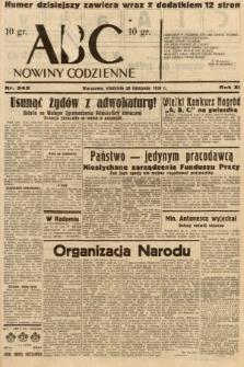 ABC : nowiny codzienne. 1936, nr342