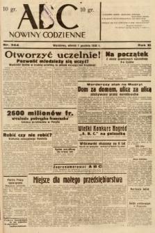 ABC : nowiny codzienne. 1936, nr344