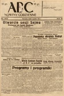 ABC : nowiny codzienne. 1936, nr345
