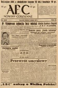 ABC : nowiny codzienne. 1936, nr349