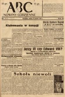 ABC : nowiny codzienne. 1936, nr357 [ocenzurowany]