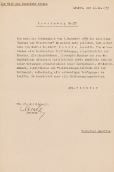 Anordnung. 1939, nr55