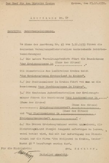 Anordnung. 1939, nr67