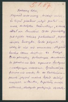 Korespondencja Leona Mańkowskiego z lat 1871-1909. T. 11, r. 1887