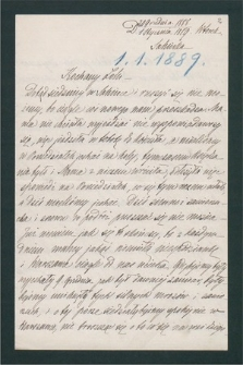 Korespondencja Leona Mańkowskiego z lat 1871-1909. T. 13, r. 1889
