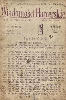 Wiadomości Harcerskie : dod. do rozk. 1921, nr 1