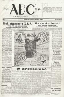 ABC : nowiny codzienne. 1938, nr1 A