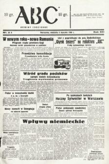 ABC : nowiny codzienne. 1938, nr2 A
