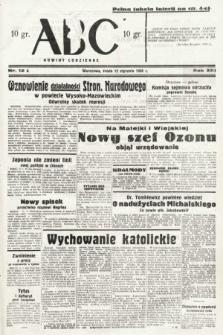 ABC : nowiny codzienne. 1938, nr12 A