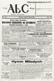 ABC : nowiny codzienne. 1938, nr19 A