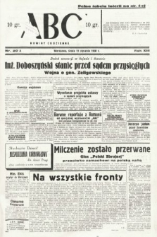 ABC : nowiny codzienne. 1938, nr20 A
