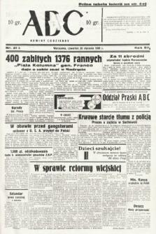 ABC : nowiny codzienne. 1938, nr21 A