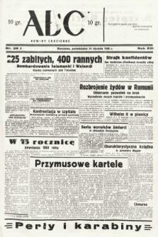 ABC : nowiny codzienne. 1938, nr25 A