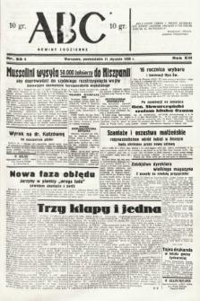 ABC : nowiny codzienne. 1938, nr33 A
