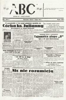 ABC : nowiny codzienne. 1938, nr34 A