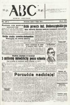 ABC : nowiny codzienne. 1938, nr37 A