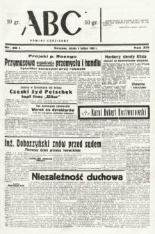ABC : nowiny codzienne. 1938, nr38 A