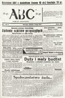 ABC : nowiny codzienne. 1938, nr39 A