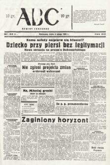 ABC : nowiny codzienne. 1938, nr43 A