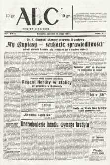 ABC : nowiny codzienne. 1938, nr44 A