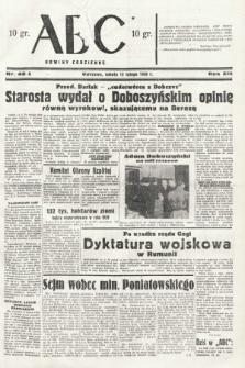 ABC : nowiny codzienne. 1938, nr46 A