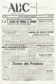ABC : nowiny codzienne. 1938, nr48 A