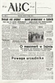 ABC : nowiny codzienne. 1938, nr49 A