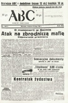 ABC : nowiny codzienne. 1938, nr54 A