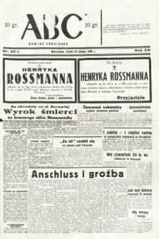 ABC : nowiny codzienne. 1938, nr57 A