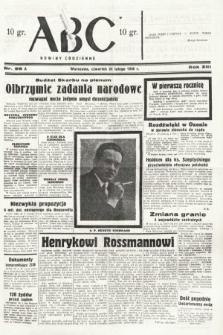 ABC : nowiny codzienne. 1938, nr58 A