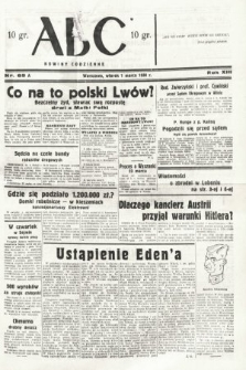 ABC : nowiny codzienne. 1938, nr65 A