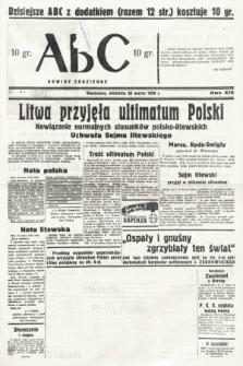 ABC : nowiny codzienne. 1938, nr87 A