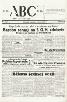 ABC : nowiny codzienne. 1938, nr104 A
