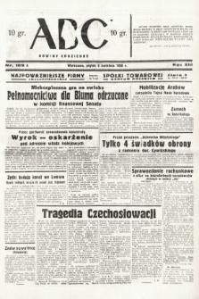 ABC : nowiny codzienne. 1938, nr109 A