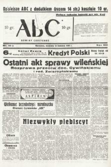 ABC : nowiny codzienne. 1938, nr111 A