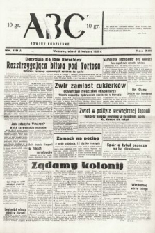 ABC : nowiny codzienne. 1938, nr119 A