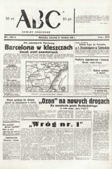 ABC : nowiny codzienne. 1938, nr121 A