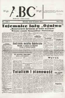 ABC : nowiny codzienne. 1938, nr126 A