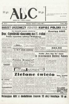 ABC : nowiny codzienne. 1938, nr167 A
